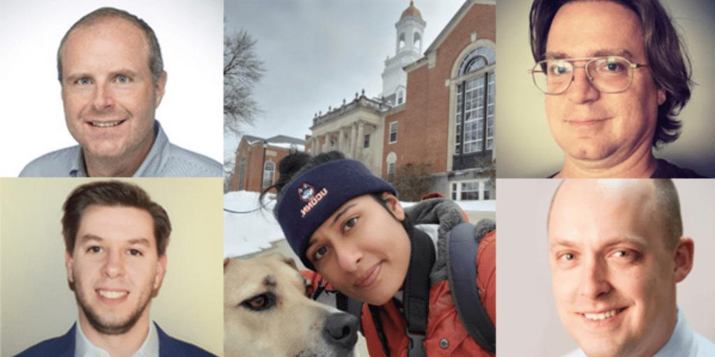 Headshots of UConn Journalism alumni