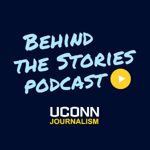 behind the stories podcast logo